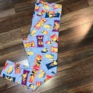 Lularoe TC2 Tall & Curvy Beach Animal Leggings